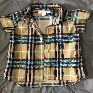 Burberry Kids Scribble Button Up 6 mo